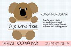 Koala Split Monogram SVG Cut Files for Cricut and Silhouette Product Image 2