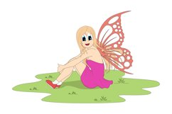 pretty fairy cartoon, simple vector illustration Product Image 1