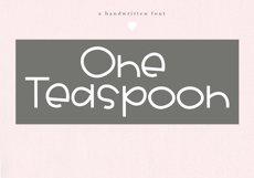 One Teaspoon - Handwritten Font Product Image 1