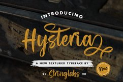 Hysteria - Stylish Script Font Product Image 1