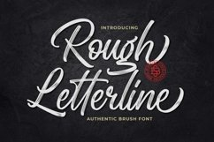 Rough Letterline Authentic Brush Font Product Image 1