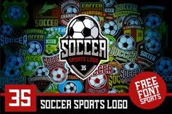 Set 35 Football Soccer Logo Emblem Template Product Image 1