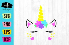 Unicorn Face SVG Cut File Product Image 1