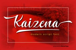 Kaizena - Modern Script Font Product Image 1