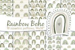 Boho Rainbow Digital Paper Neutral Product Image 4