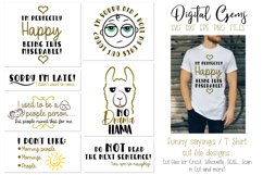 Funny quotes and sayings, T Shirt cut file designs Product Image 1