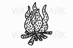 Fire element camping - SVG/JPG/PNG Hand Drawing Product Image 1