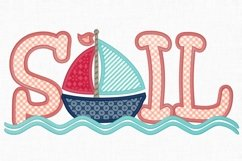 Sailboat Applique Embroidery Design 1275 Product Image 2