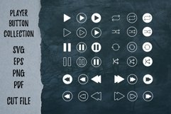 Player song covers, progress bar and button templates SVG Product Image 3