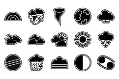 Set Of Weather And Season Icons Product Image 1