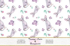 Funny Cats Seamless Patterns, Seamless backgrounds Product Image 13