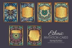 Mandala ethnic cards vector templates set. Product Image 3