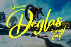 Deglas | Modern Script Font Product Image 1