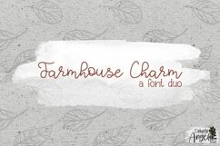 Farmhouse Charm - a smooth handwritten script font duo Product Image 1