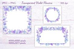 Transparent Violet Flowers Product Image 4
