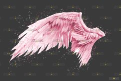 Pink Angel Wing overlay & Photoshop overlay Product Image 3