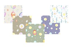 Watercolor Easter seamless patterns Product Image 5