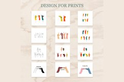 ASL, Sign Language designs bundle for sublimation printing Product Image 2