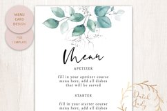 PSD Wedding Menu & Place Card Template - #1 Product Image 2