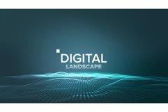 Technology Landscape Vector. Tech Surface. Dot Land. Product Image 1
