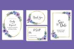Flower Bouquet Watercolor Wedding Invitations SVG Vector Product Image 1