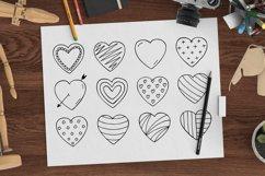 Hand drawn hearts + seamless pattern Product Image 1