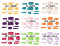Brush Strokes Background Bundle Glitter & Watercolor PNG Product Image 2