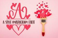 Web Font A Heart Split Monogram Font Product Image 1