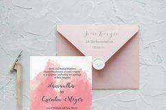 Pink Watercolor Wedding Invite Bundle Product Image 2