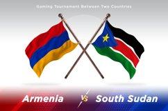 Armenia versus South Sudan Two Flags Product Image 1