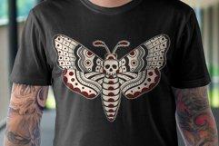Death Head Moth Vector Design Product Image 2