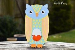 Owl Easter egg holder design SVG / DXF / EPS Product Image 4