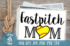 Fastpitch Mom Sports Mother SVG Design Product Image 1