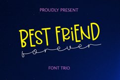Best Friend Forever- A Casual & Playful Font Trio. Product Image 4