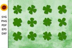 Quatrefoil SVG. Shamrock SVG bundle. Four leaf clover SVG. Q Product Image 1