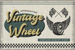 Vintage Wheel - Vintage Script Font Product Image 1