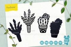 Plants svg bundle, House plants svg, succulents cut file Product Image 6