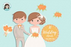 Wedding characters clipart Product Image 3