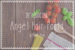 Angel Hair Pasta Font Trio Product Image 1