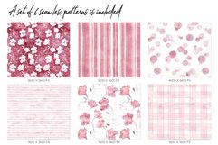 15 Huge Seamless Pink & Grey Watercolor Textures Product Image 5