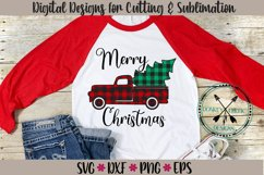 Plaid Christmas Truck SVG Product Image 2