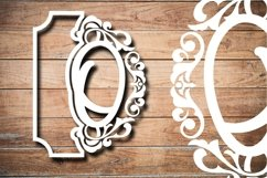 Letter O Papercut SVG Design Template Product Image 3