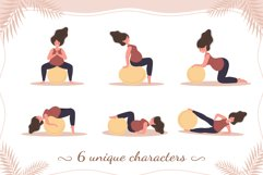 PREGNANT YOGA vector bundle Product Image 6