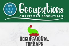 Christmas Occupational Therapy svg, Elf Squad hat & shoes OT Product Image 2