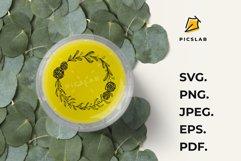 Hand drown olive branch, laurel wreath, wildflower monogram Product Image 5