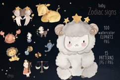 Zodiac signs clipart. Watercolor astrology clip art for kids Product Image 1