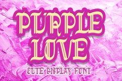 Purple Love - Cute Display Font Product Image 1