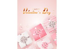 Valentine's Day Background Template Card Design Product Image 6