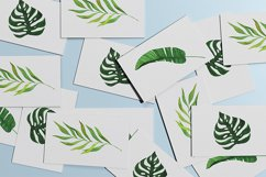 Watercolor Tropical Leaves Clipart, Palm Trees, Jungle Product Image 2