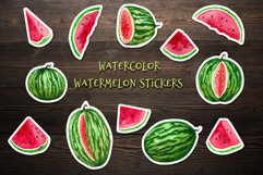 Watercolor watermelons, clipart for stickers and paper Product Image 2